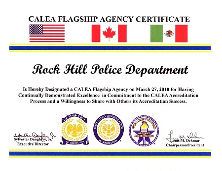 CALEA Flagship Agency Certificate