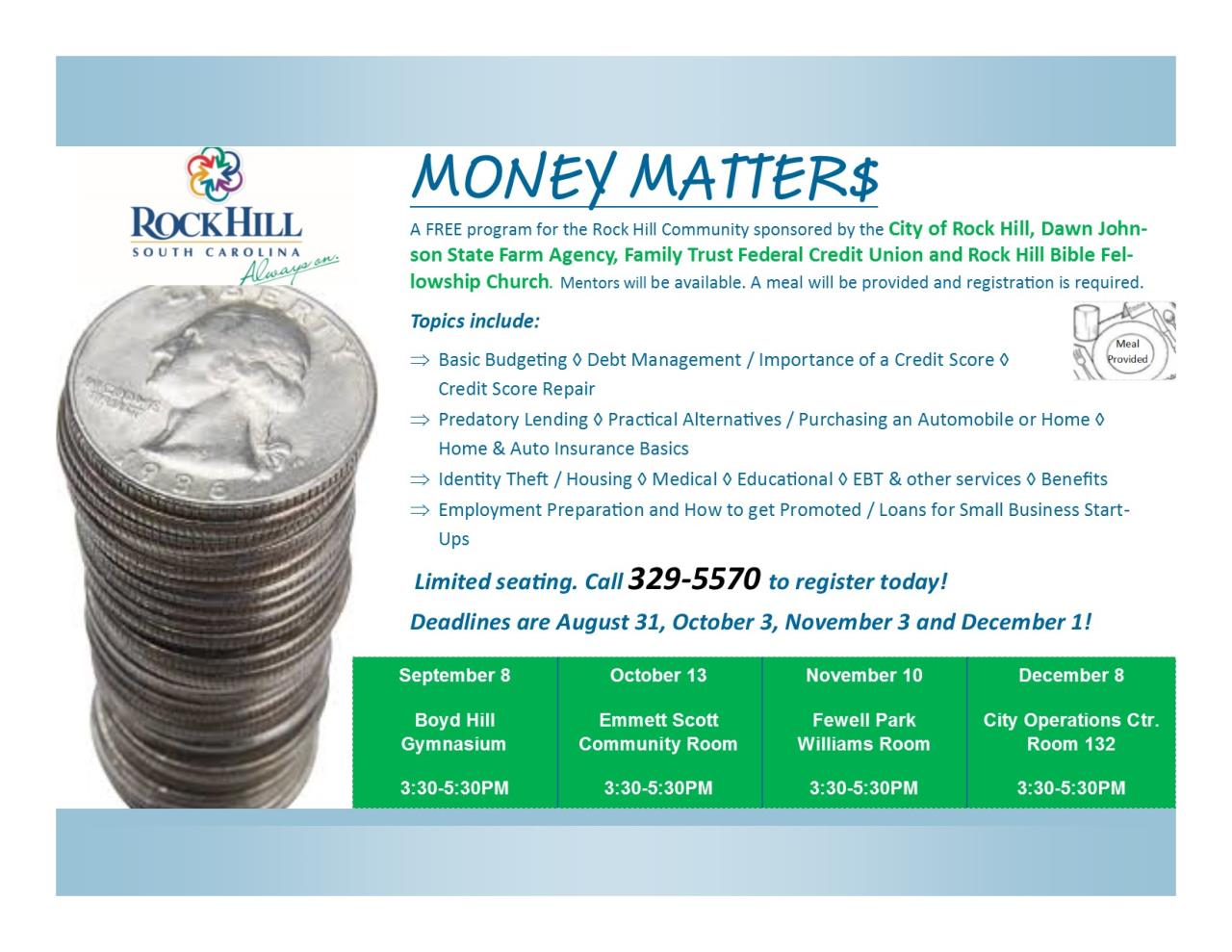 Money Matters Flyer