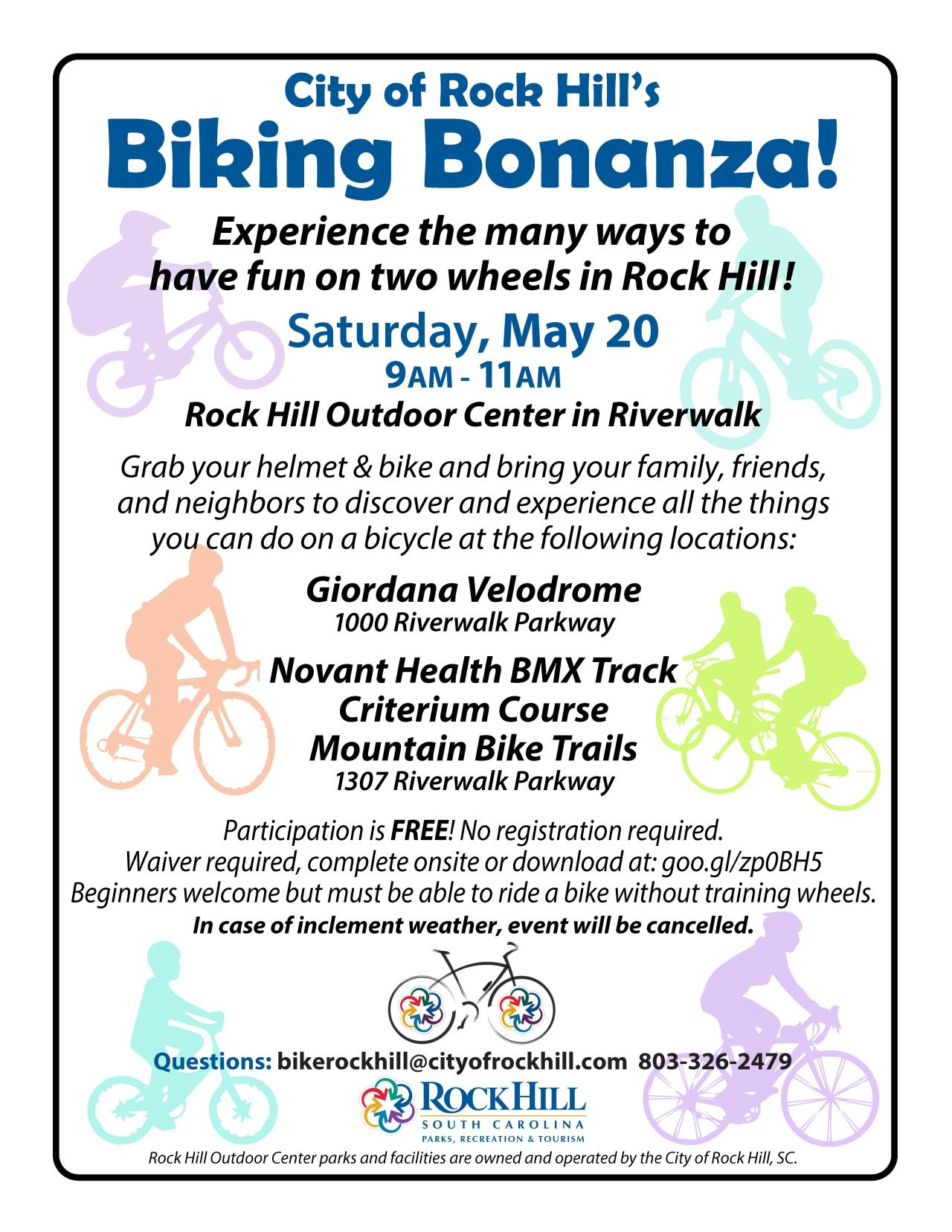 2017 Biking Bonanza flyer