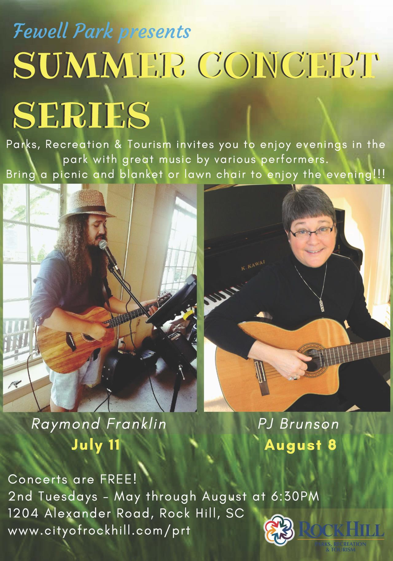 Fewell Park Concert July-August