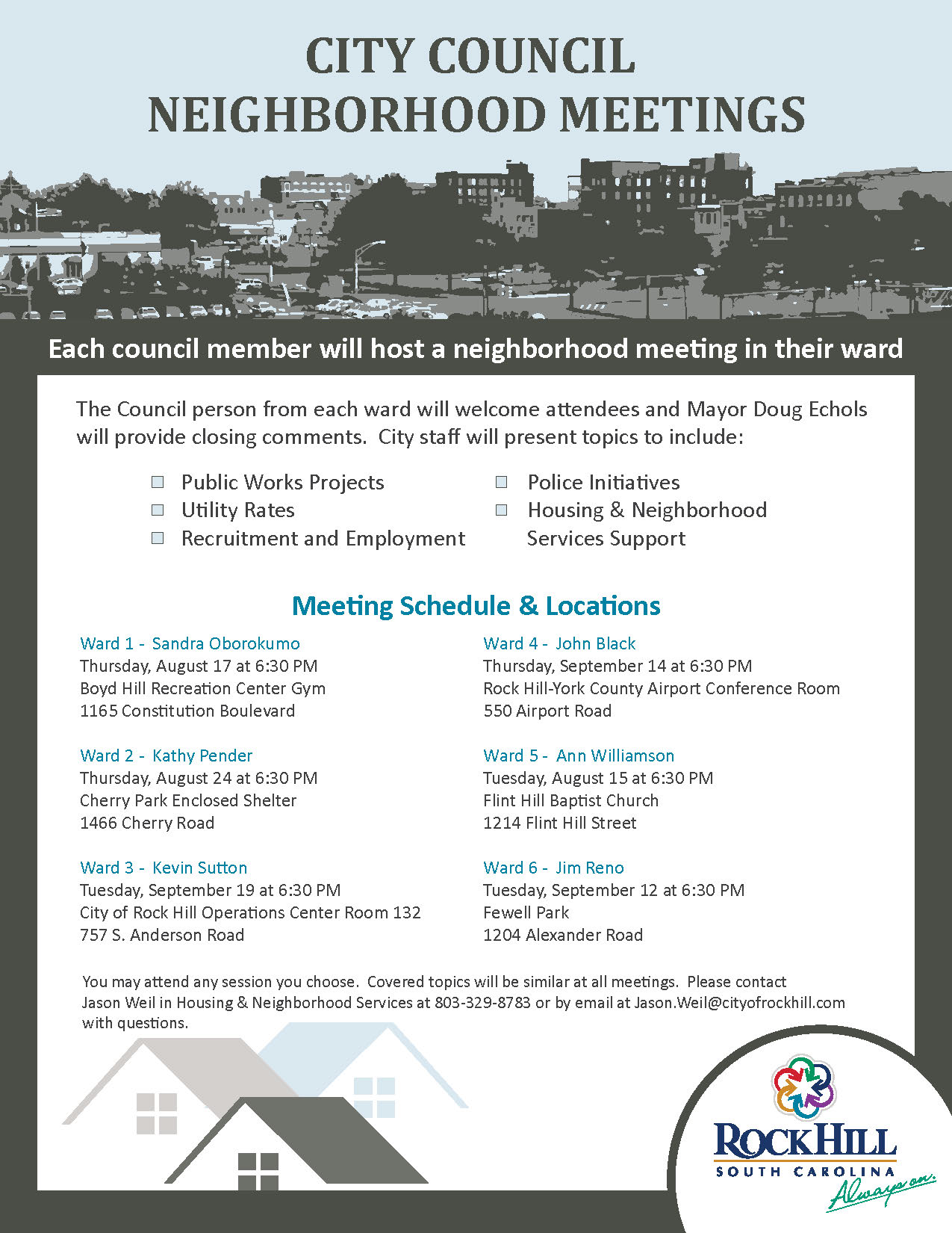 Neighborhood ward meetings 2017