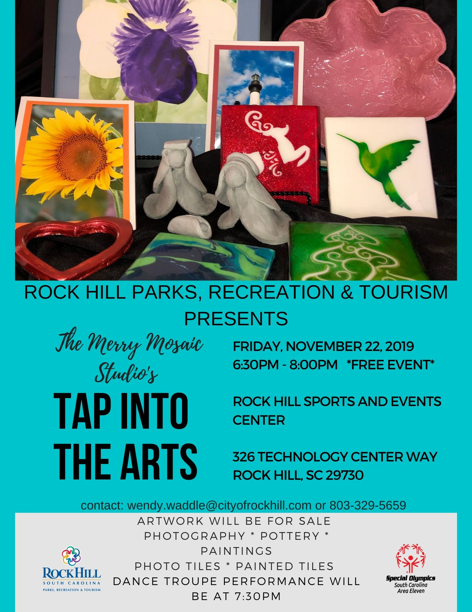 TAP Into the Arts Show Flyer