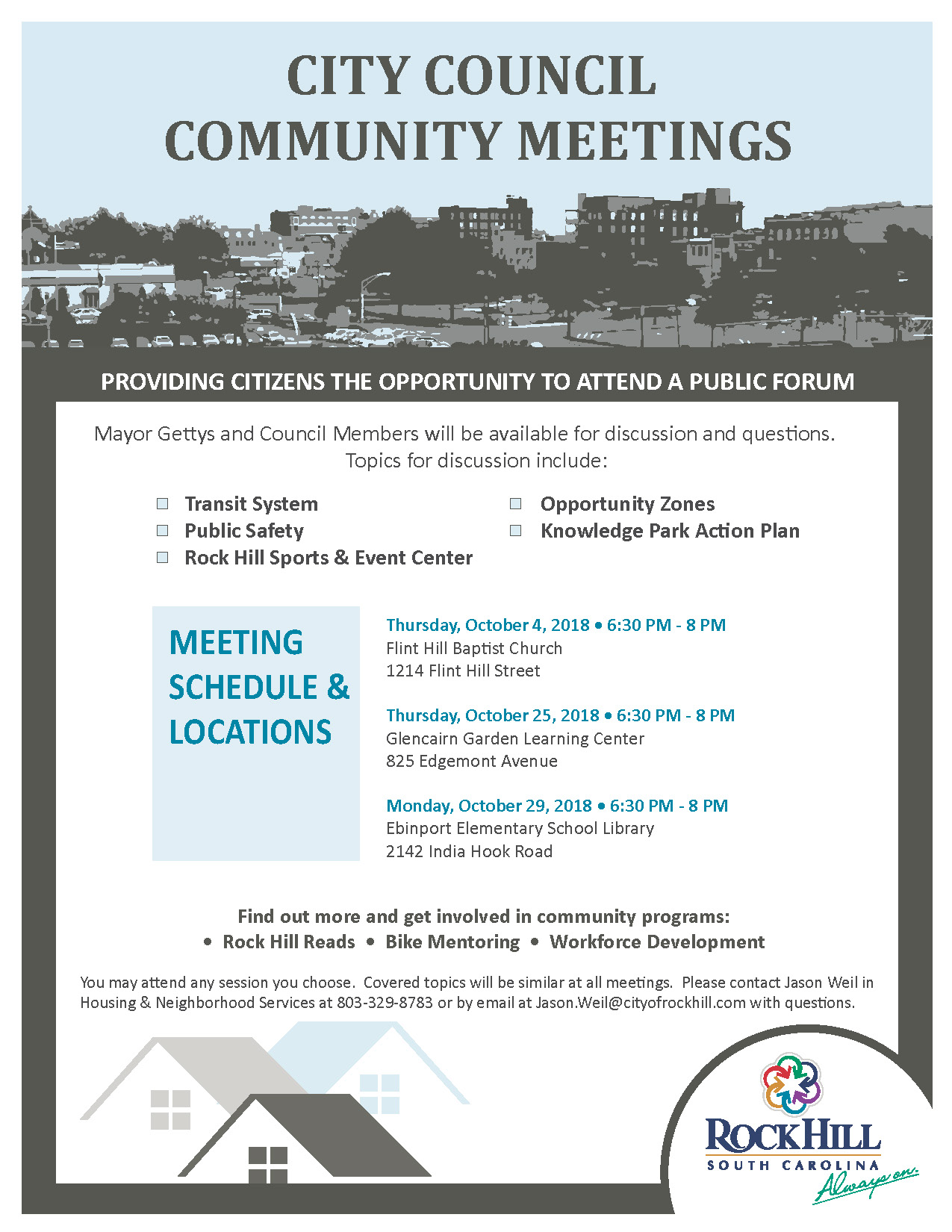 City Council Community Meetings 2018