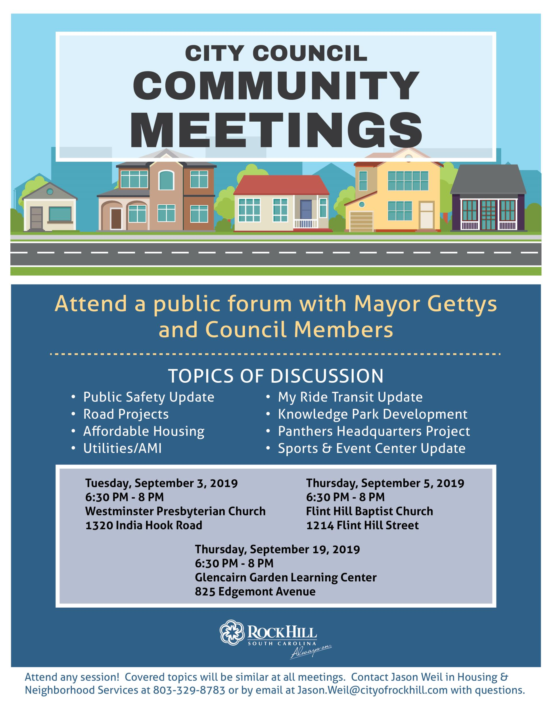 2019 City Council Community Meetings