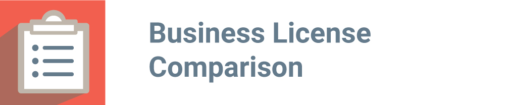 Business License Comparison